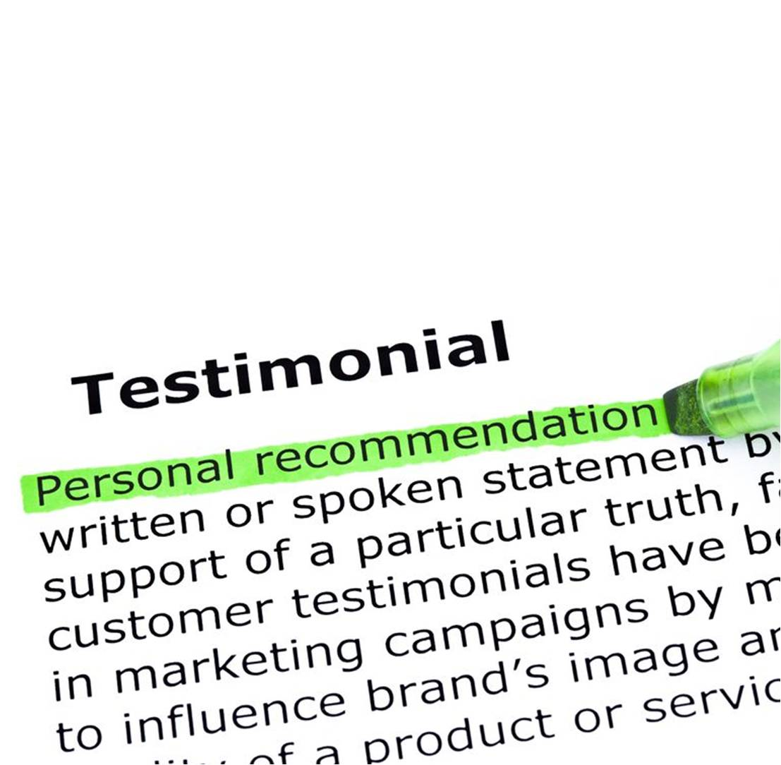 Make the most of great testimonials